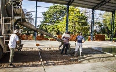 Continúan los trabajos en la construcción de un galpón en el Prolim