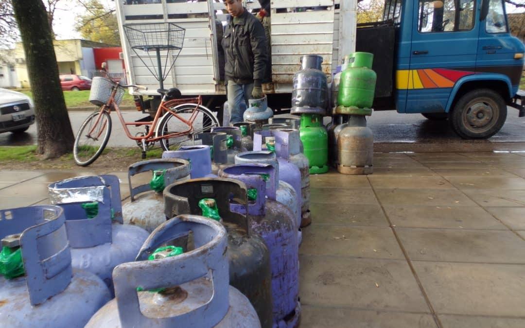 Finalizó el programa invierno con la entrega de 2254 garrafas subsidiadas