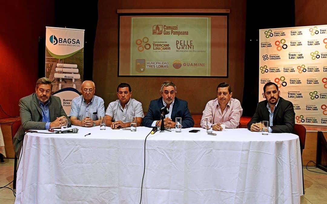 En un día histórico se anunciaron nuevas conexiones a la red de gas en Trenque Lauquen y la Región