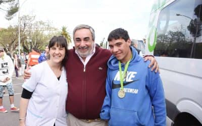 Fernández recibió a los finalistas de los Juegos Bonaerenses 2017