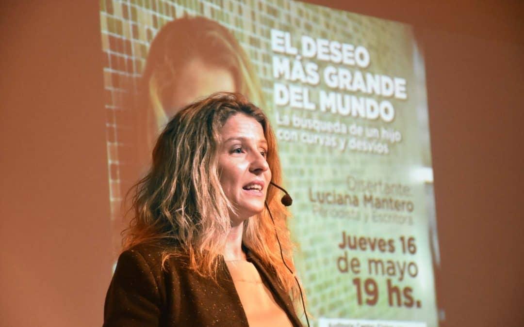 CON BUENA RESPUESTA DEL PÚBLICO, LUCIANA MANTERO PRESENTÓ SU LIBRO SOBRE EL DESEO DE SER MADRE