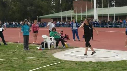 Martina Helguera obtuvo Medalla de Bronce en lanzamiento de bala