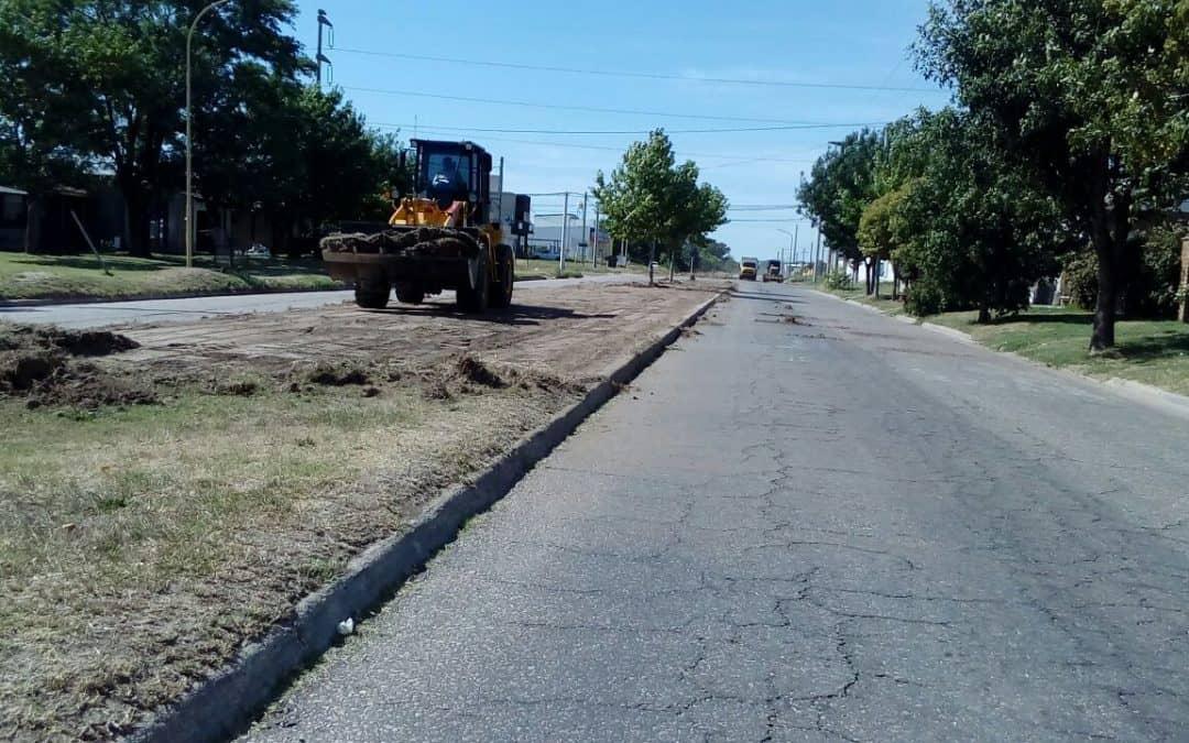El Municipio realiza la nivelación de ramblas de la calle Monferrand