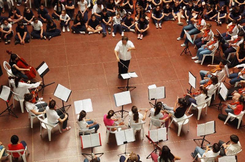 Presentación de la orquesta infantil