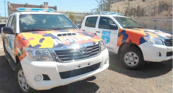 Cuerda recibió dos móviles para la patrulla rural