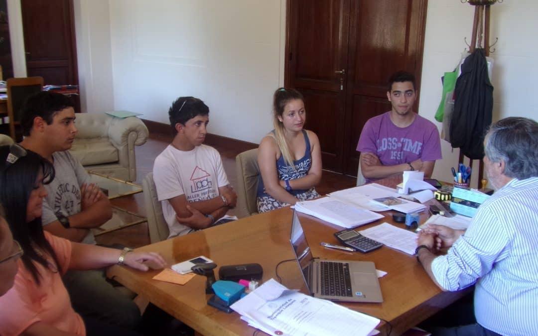 Fernández se reunió con operarios del Estacionamiento Medido