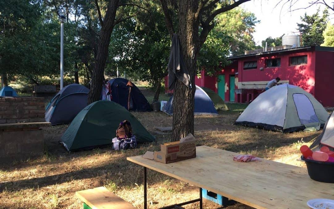 El contingente de la Escuela 35 se instaló ayer en el camping de Pehuen Có