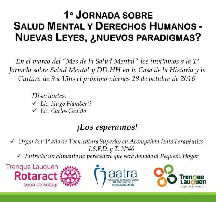 El Municipio acompaña la primera Jornada de Salud Mental y Derechos Humanos