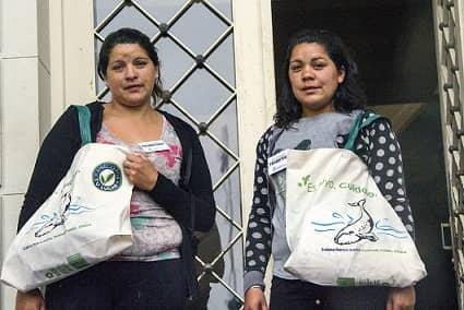 Bolsas: campaña puerta a puerta