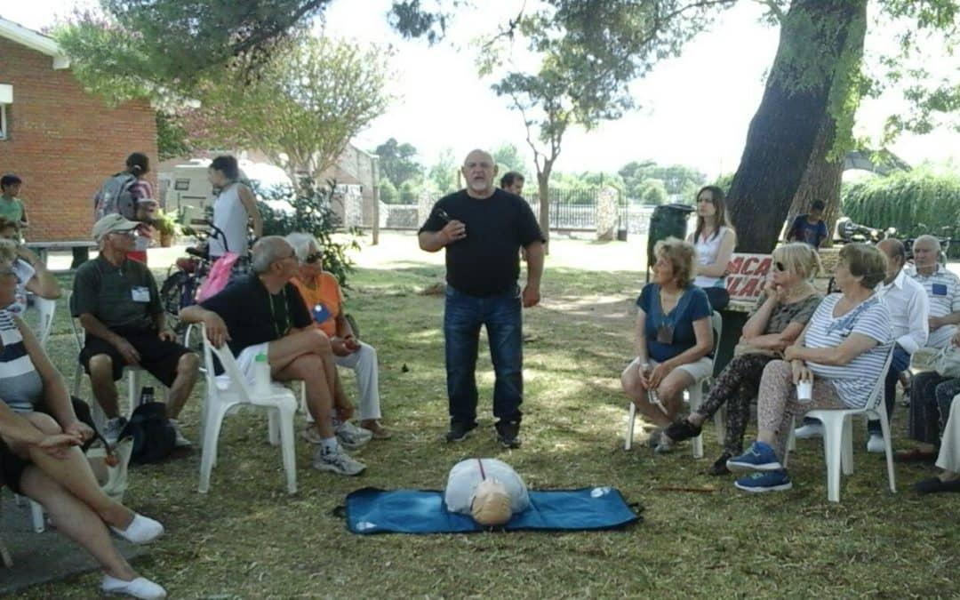 Defensa Civil ofreció ayer una charla sobre RCP en la colonia de adultos mayores