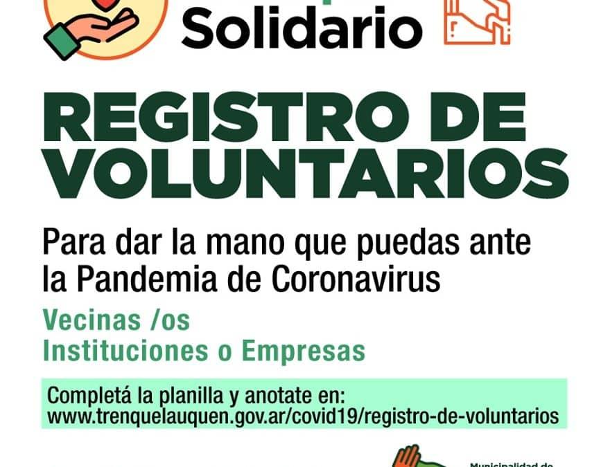 REGISTRO DE VOLUNTARIOS: SE INSCRIBIERON 382 PERSONAS Y 42 INSTITUCIONES