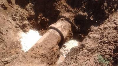Reparación en red de agua