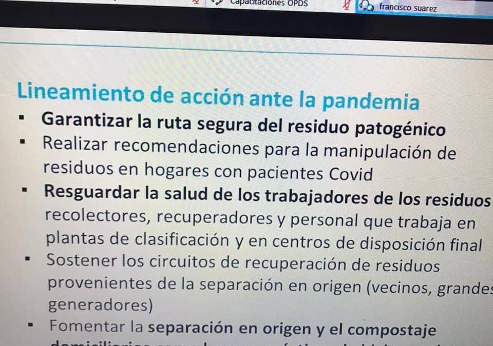 SEGURIDAD Y MANEJO DE RESIDUOS, ENTRE LOS TEMAS ABORDADOS EN ENCUENTRO VIRTUAL CON AUTORIDADES DE AMBIENTE DE PROVINCIA