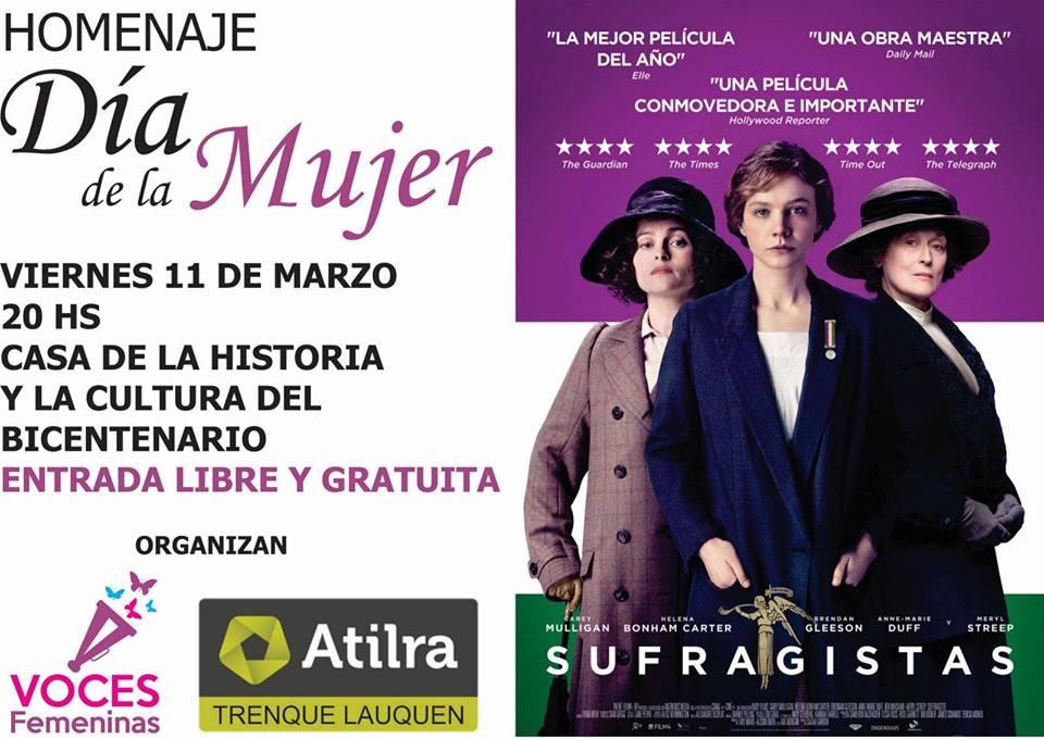 """Día de la Mujer: Se proyecta la película """"Sufragistas"""""""