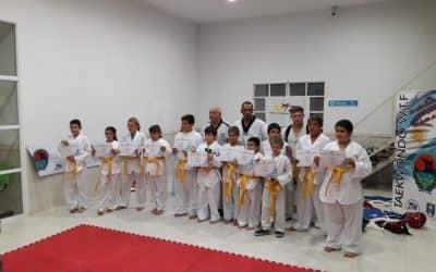 Alumnos de Taekwondo municipal rindieron su primer examen
