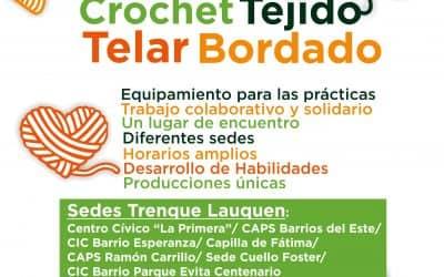 HORARIOS DE LOS TALLERES DE TEJIDO DE LA ESCUELA MUNICIPAL EN TRENQUE LAUQUEN