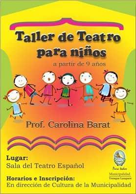 Inscripción abierta para Talleres de Teatro