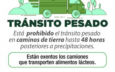 EL TRÁNSITO PESADO CONTINUA CORTADO EN LOS CAMINOS RURALES